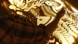 getlinkyoutube.com-рисование песком- урок 1. художник- Айбазова Ева.
