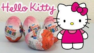 getlinkyoutube.com-Surprise eggs HELLO KITTY - Kinder Surprise Eggs