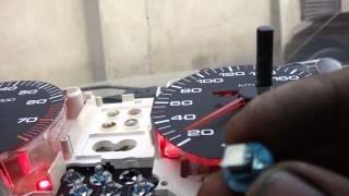 getlinkyoutube.com-Светодиоды в приборку Audi 100 C4