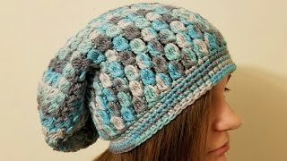 getlinkyoutube.com-CROCHET How To #Crochet The Icy Tears Slouchy Hat Beanie #TUTORIAL  #361