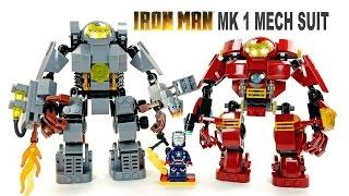getlinkyoutube.com-LEGO Iron Man MK1 vs Hulkbuster KnockOff Mech Suit Set w/ Iron Patriot