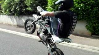 getlinkyoutube.com-Pitbike stunt / Crazy Riding Zone