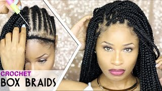 getlinkyoutube.com-How To ➟ CROCHET BOX BRAIDS 🔥 (looks like the real thing! free-parting)
