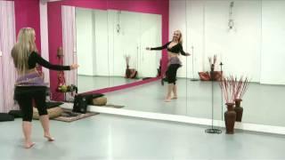getlinkyoutube.com-Katka Derouet (Krejčová)  - orientální břišní tanec - výuka (1.díl)