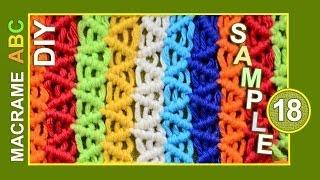 getlinkyoutube.com-Macrame ABC - pattern sample #18
