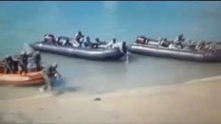 getlinkyoutube.com-KENYAN SPECIAL FORCES S E A L s Troops Launch Beach Assault in Kismayo