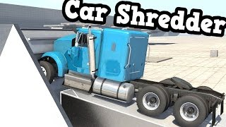 getlinkyoutube.com-BeamNG Drive - Car Shredder Test