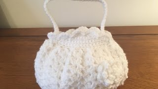 How to crochet small holy communion bag