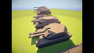 getlinkyoutube.com-【MinecraftARMY】大戦争!劇的ウォーアフター3戦目前半『戦闘車両一覧』