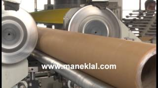 getlinkyoutube.com-Manek - Paper Tube Making Machine - Spiral Winding