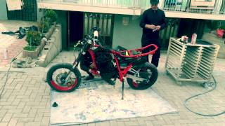 getlinkyoutube.com-Yamaha xt 600  Supermoto project