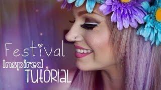 getlinkyoutube.com-Festival Inspired & Layered Eyeliner Makeup Tutorial