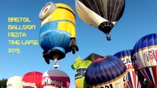 getlinkyoutube.com-Bristol Balloon Fiesta! Best Official Time Lapse. Dragon and Minion Hot Air Balloons