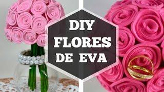 getlinkyoutube.com-Bola flores de eva (DIY casamento)