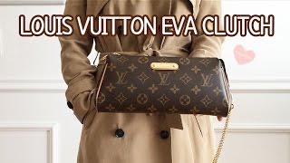 getlinkyoutube.com-Louis Vuitton Eva Clutch Monogram Review + What Fits Inside?