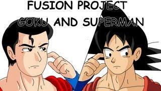 getlinkyoutube.com-Fusion Project: Goku and Superman (Potara)