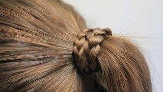 getlinkyoutube.com-髪の毛を結んだゴムを 髪の毛で隠す方法 2
