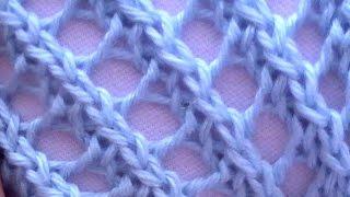 getlinkyoutube.com-Como Tejer Encaje Diagonal-Diagonal Lace 2 Agujas (247)