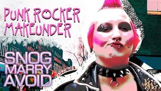 getlinkyoutube.com-Shocking Punk Rocker Turned Into Stunner | Snog Marry Avoid