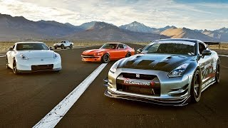 getlinkyoutube.com-SEMA Drag Race: 240Z vs 370Z vs GTR vs Trophy Truck! - 2015 SEMA Week Ep. 5