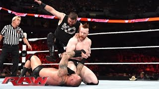 getlinkyoutube.com-Randy Orton & Cesaro vs. Sheamus & Kevin Owens: Raw, Aug. 17, 2015