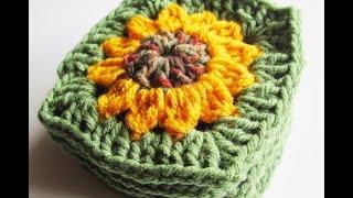 getlinkyoutube.com-Vol 13 - Crochet Pattern - Granny Square - Sunflower