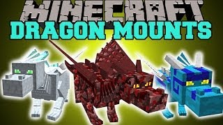getlinkyoutube.com-Minecraft: DRAGON MOUNTS (RIDE AETHER, GHOST, FIRE, ICE, WATER, & FOREST DRAGONS!) Mod Showcase