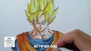 getlinkyoutube.com-How to draw Super Saiyan Goku