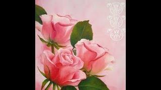 getlinkyoutube.com-Como pintar al oleo - Rosas