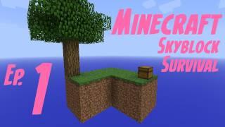 getlinkyoutube.com-Minecraft: Skyblock Survival Ep1- Don't Look Down