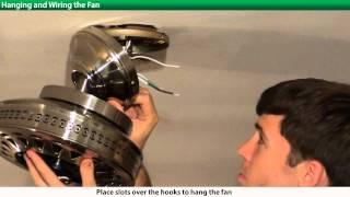 getlinkyoutube.com-How to Install a Hunter Ceiling Fan - 2xxxx Series Models