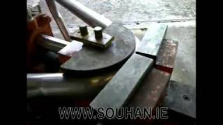 Stainless Steel Exhaust Pipe Being Bent - Souhan.ie.mp4
