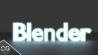 How to Make Realistic Glowing cool 3d text in blender - Blender Text Tutorial