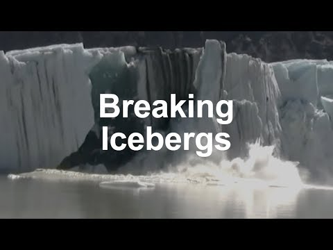 Breaking icebergs right up close!