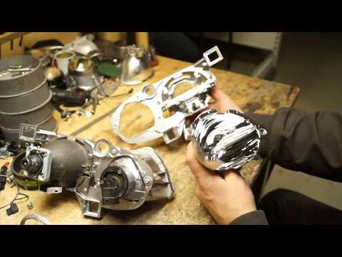 Ремонт фар (замена отражателей) Subaru Outback b13