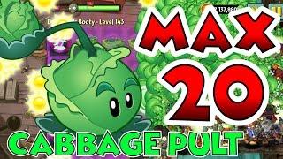 getlinkyoutube.com-Plants vs Zombies 2 Max Level UP - Cabbage Pult @ Level 20 Maximum Level