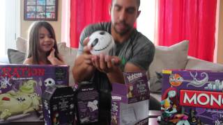 getlinkyoutube.com-Oliveira's Spooky Nightmare Before Christmas 2015 Board Game Edition Review
