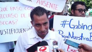 Marchan estudiantes del ITCP, exigen beca