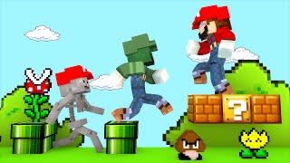 getlinkyoutube.com-Minecraft Escola Monstro #57  - Mundo do MARIO !! Monster School