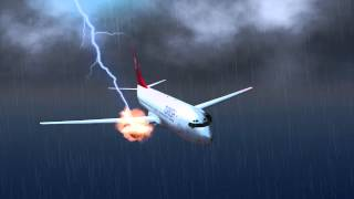 getlinkyoutube.com-Turkish plane lands safely after lightning strike causes engine fire