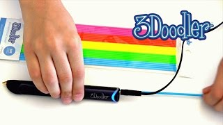 getlinkyoutube.com-New 3Doodler Create 3D printing pen unboxing, test, drawing Eiffel Tower 3D