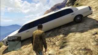 getlinkyoutube.com-GTA V BIG JUMP MUNTAIN LIMO STRETCH STUNT CRASH ACCIDENT