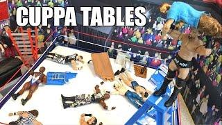 getlinkyoutube.com-GTS WRESTLING: TABLE TEAM MATCH! WWE Mattel Elite Figure PPV Animation