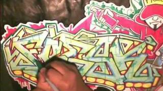 getlinkyoutube.com-How to draw graffiti name ''FRESK'' Request - Como Dibujar graffiti