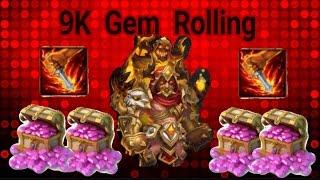 getlinkyoutube.com-Lucky 9K Gem Rolling for Grimfiend Castle Clash