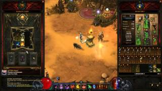 getlinkyoutube.com-Diablo 3 23 Kanai's cube legendary bows + 25 Hellfire amulets craft