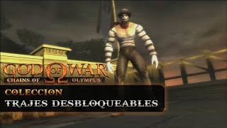 getlinkyoutube.com-God of War: Chains of Olympus HD | Todos los atuendos (All Outfits) | Trajes desbloqueables