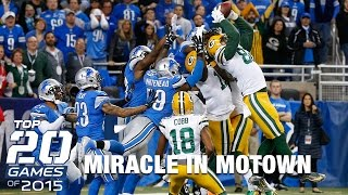 getlinkyoutube.com-#8: Packers vs. Lions | Top 20 Games of 2015 | NFL