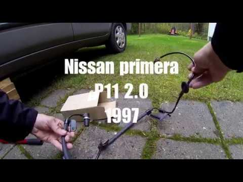 ABS johdon vaihto NISSAN Primera P11 ABS cable replacement NISSAN Primera P11