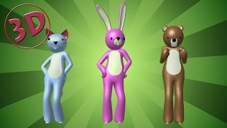 getlinkyoutube.com-★ If You're Happy and You Know It 3D Rhyme ★ 3D Nursery Rhyme Song for Children ★